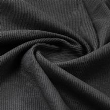 Black - Plain 100% Cotton 2x1 Rib